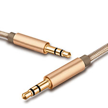 Cable Auxiliaire Audio Stereo Jack 3.5mm Male vers Male A01 Or