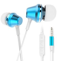 Ecouteur Casque Filaire Sport Stereo Intra-auriculaire Oreillette H37 Bleu