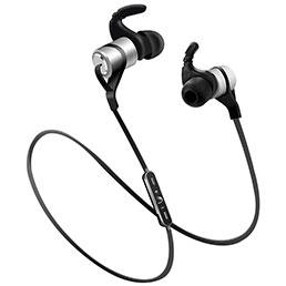 Ecouteur Sport Bluetooth Stereo Casque Intra-auriculaire Sans fil Oreillette H50 Argent