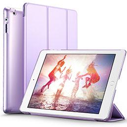 Coque Portefeuille Livre Cuir L01 pour Apple iPad 4 Violet