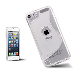 Coque Silicone Souple Transparente Vague S-Line pour Apple iPod Touch 5 Blanc