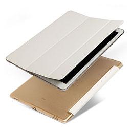 Housse Portefeuille Livre Cuir pour Apple iPad Pro 12.9 Blanc