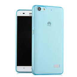 Coque Ultra Slim TPU Souple Transparente pour Huawei Honor 4C Bleu