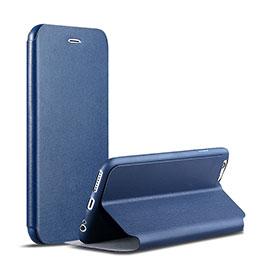 Coque Portefeuille Livre Cuir pour Apple iPhone 6 Bleu