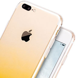 Coque Ultra Slim Transparente Souple Degrade G01 pour Apple iPhone 8 Plus Jaune