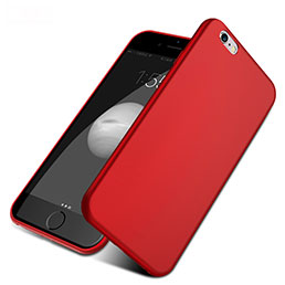 Housse Ultra Fine TPU Souple G01 pour Apple iPhone 6S Plus Rouge