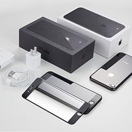 Film Protecteur d'Ecran Verre Trempe Integrale F18 pour Apple iPhone 8 Noir