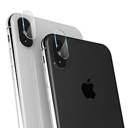 Verre Trempe Protecteur de Camera F16 pour Apple iPhone X Clair
