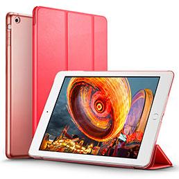 Coque Portefeuille Livre Cuir L01 pour Apple iPad Air Rouge