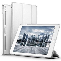 Coque Portefeuille Livre Cuir L02 pour Apple iPad Pro 10.5 Blanc