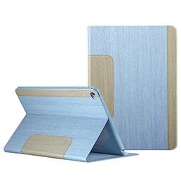 Housse Portefeuille Livre Cuir L03 pour Apple iPad Mini 4 Bleu Ciel