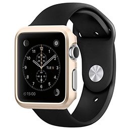 Coque Bumper Luxe Aluminum Metal C01 pour Apple iWatch 38mm Or