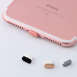 Bouchon Anti-poussiere Lightning USB Jack J07 pour Apple iPhone X Argent
