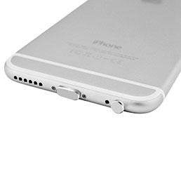 Bouchon Anti-poussiere Lightning USB Jack J01 pour Apple iPhone X Argent