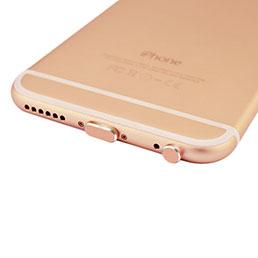 Bouchon Anti-poussiere Lightning USB Jack J01 pour Apple iPhone X Or Rose