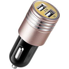 3.1A Adaptateur de Voiture Chargeur Rapide Double USB Port Universel U04 Rose