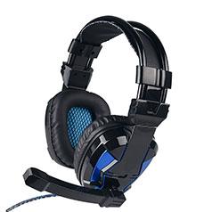 Casque Ecouteur Filaire Sport Stereo Intra-auriculaire Oreillette H52 Bleu