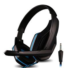 Casque Filaire Sport Stereo Ecouteur Intra-auriculaire Oreillette H51 Bleu