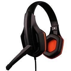 Casque Filaire Sport Stereo Ecouteur Intra-auriculaire Oreillette H51 Orange