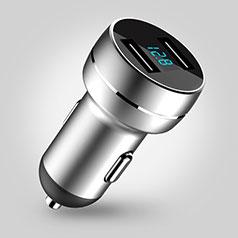 3.4A Adaptateur de Voiture Chargeur Rapide Double USB Port Universel U03 Argent