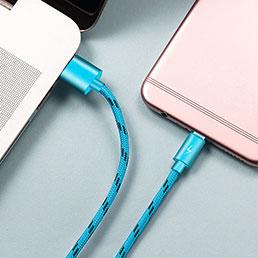 Cable USB 2.0 Android Universel A03 Bleu Ciel