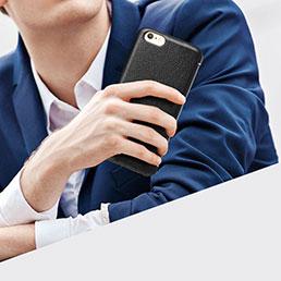 Coque Portefeuille Livre Cuir L06 pour Apple iPhone 6S Noir
