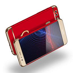 Etui Bumper Luxe Metal et Plastique avec Support Bague Anneau A03 pour Huawei P9 Plus Rouge