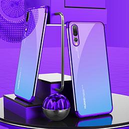 Etui Ultra Fine TPU Souple Transparente T07 pour Huawei P20 Pro Violet