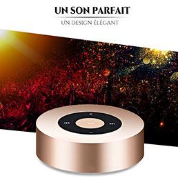 Mini Haut Parleur Enceinte Portable Sans Fil Bluetooth Haut-Parleur S07 Or