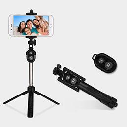 Perche de Selfie Sans Fil Bluetooth Baton de Selfie Extensible de Poche Universel S24 Noir