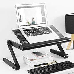 Support Ordinateur Portable Universel S06 pour Apple MacBook Air 11 pouces Noir