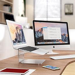 Support Ordinateur Portable Universel S09 pour Apple MacBook Air 11 pouces Argent