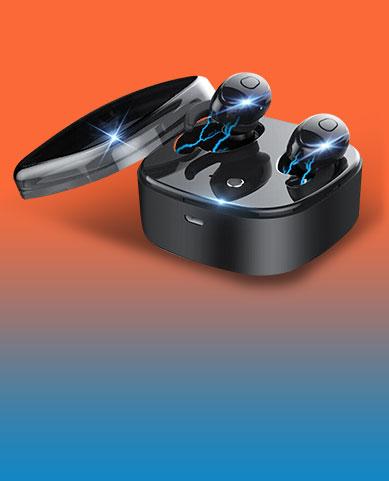 Ecouteur Sport Bluetooth Stereo Casque Intra-auriculaire Sans fil Oreillette H45 Noir