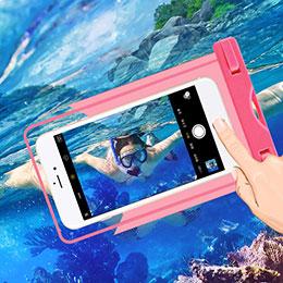 Etui Pochette Etanche Waterproof Universel W03 Rose