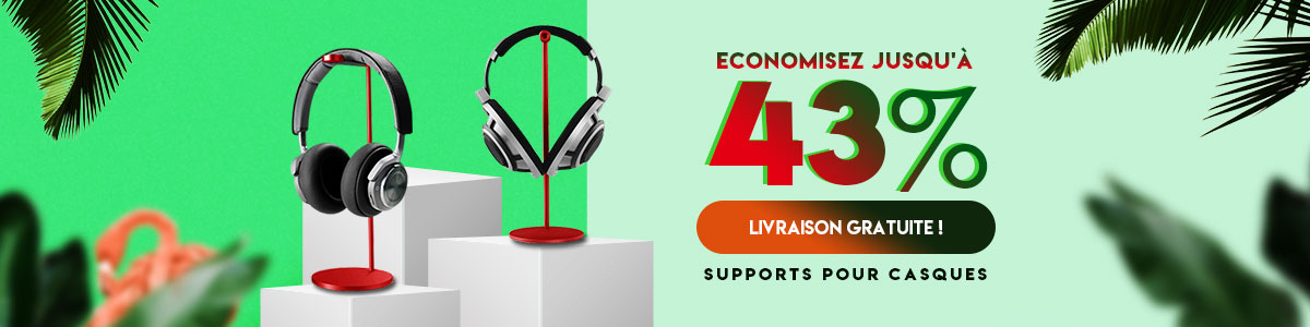 Support Casque Ecouteur Cintre Universel H01 Rouge
