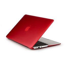 Coque Ultra Slim Mat Rigide Transparente pour Apple MacBook Pro 15 pouces Rouge