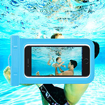 Coque Pochette Etanche Waterproof Universel W05 Bleu