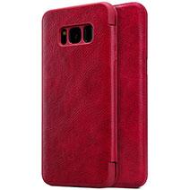 Coque Portefeuille Livre Cuir pour Samsung Galaxy S8 Plus Rouge