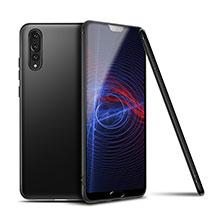 Coque Ultra Fine Silicone Souple Housse Etui S01 pour Huawei P20 Pro Noir