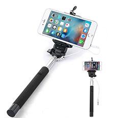Perche de Selfie Filaire Baton de Selfie Cable Extensible de Poche Universel Noir
