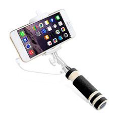 Perche de Selfie Filaire Baton de Selfie Cable Extensible de Poche Universel S01 Noir