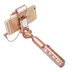 Perche de Selfie Sans Fil Bluetooth Baton de Selfie Extensible de Poche Universel S17 Or