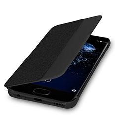 Etui Portefeuille Flip Cuir pour Huawei P10 Noir