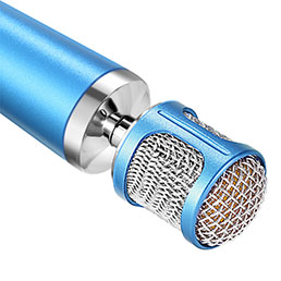 3.5mm Mini Microphone de Poche Elegant Karaoke Haut-Parleur Bleu Ciel