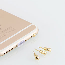 Bouchon Anti-poussiere Jack 3.5mm Android Apple Universel D05 Or