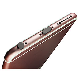 Bouchon Anti-poussiere Lightning USB Jack J02 pour Apple iPhone 5 Noir