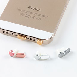 Bouchon Anti-poussiere Lightning USB Jack J05 pour Apple iPhone 5C Blanc