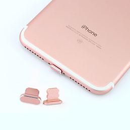 Bouchon Anti-poussiere Lightning USB Jack J06 pour Apple iPhone 7 Or Rose