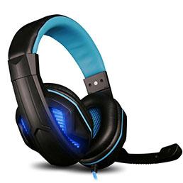 Casque Filaire Sport Stereo Ecouteur Intra-auriculaire Oreillette H58 Bleu