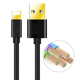 Chargeur Cable Data Synchro Cable L02 pour Apple iPhone 5 Noir